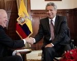 The two met in Quito's National Assembly.
