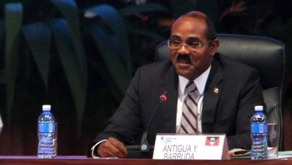 The Prime Minister of Antigua and Barbuda Gaston Browne.