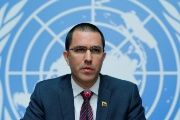 Venezuela's Foreign Minister Arreaza attends a news conference the Human Rights Council in Geneva, Switzerland.