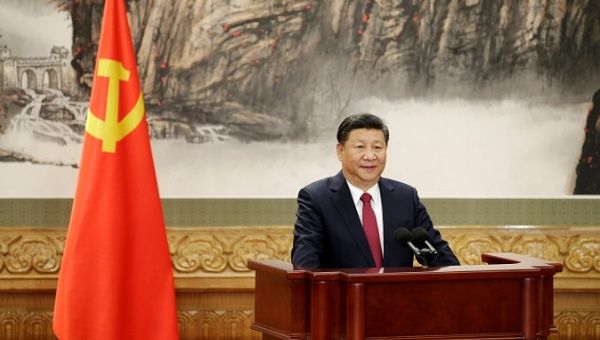 Xi Jinping speaks as China