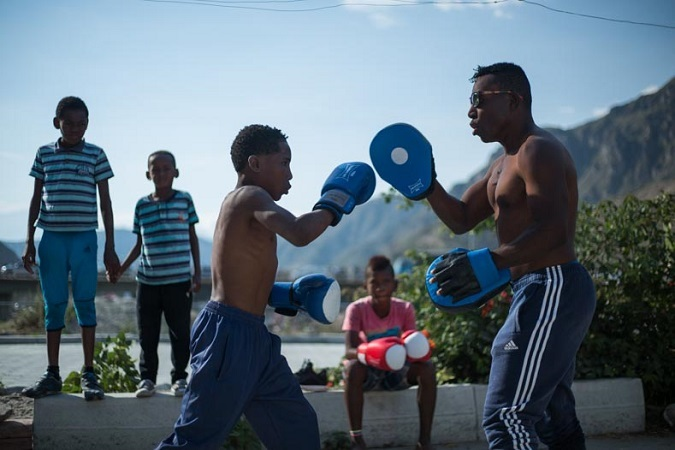 Boxing training in el Valle del Chota.