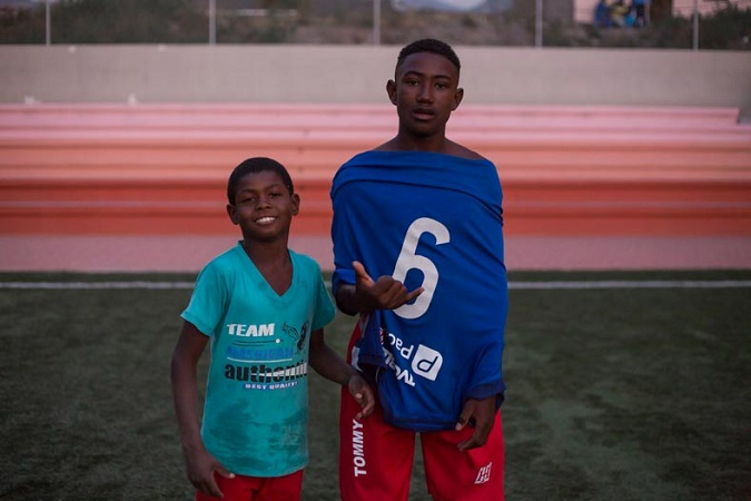 Kids hoping to become the next Ulises Hernan de la Cruz who grew up in the Valley and played for various international teams and the Ecuadorean World Cup team in 2006.
