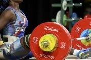 Cuba's Marina Rodríguez, another superstar female weightlifter, at the Rio Olympics.
