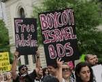 Thousands demonstrate in Washington against Israel's attack on Gaza in 2014.
