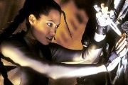 Hollywood starlet Angelina Jolie as the movie version of the iconic Lara Croft character from hit video game Tomb Raider.