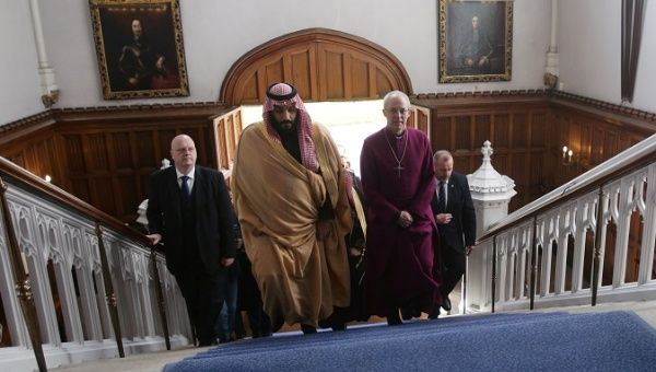 The Crown Prince of Saudi Arabia Mohammed bin Salman with Britain