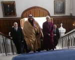 The Crown Prince of Saudi Arabia Mohammed bin Salman with Britain's Archbishop of Canterbury Justin Welby at Lambeth Palace, London, March 8, 2018.