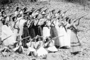 Mexico's Petra Herrera, disguised as a man, led an army of 400 female soldiers or 'Soldaderas' during the Mexican Revolution.
