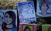 Paintings in honor of the 41 girls who died in the fire.