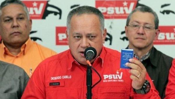 The vice president of the United Socialist Party of Venezuela (PSUV), Diosdado Cabello.