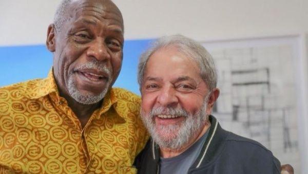 Danny Glover and former Brazilian president Luiz Inacio Lula da Silva.