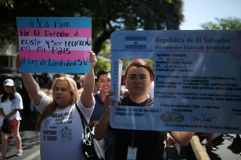 Trans people in El Salvador demand state recognition of their identities.