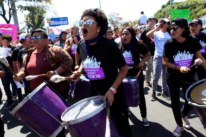 In Nicaragua women demanded equal rights and an end to violence.