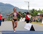 Ecuador's Magaly Bonilla completed the 50km march in record time to win the gold: 4 hours, 38 minutes and 48 seconds.