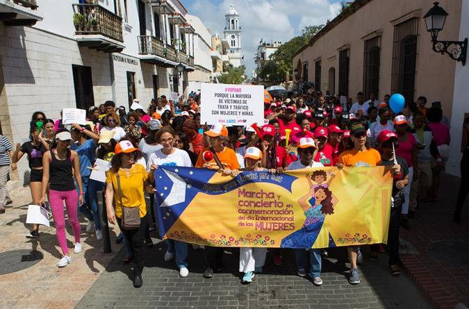 Women marched through the historical colonial center up to Spain Square, where a concert had been organized.