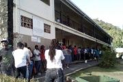 Long lines at the South St. George Government School located in Springs and the Seventh Day Adventist School located in Archibald Avenue.