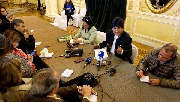 Bolivian President Evo Morales has asked Peruvian President Pedro Pablo Kuczynski to allow Venezuela to attend the Summit of the Americas.