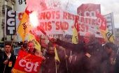 Pensioners and Workers march against Macron
