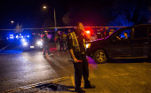 Police maintain a cordon near the site of an incident reported as an explosion in southwest Austin, Texas, U.S.