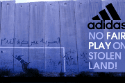 Adidas is targeted for complicity with illegal Israeli settlements.