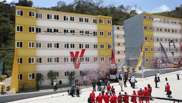 President Nicolas Maduro said the new homes belong to the Venezuelan people.