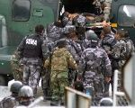 Military members are airlifted after an explosion in a 2006 explosion in Napo, Ecuador.