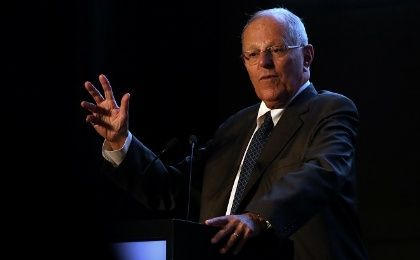 Peru's President Pedro Pablo Kuczynski participates in an event to present a balance of Peru's exports during 2017 in Lima, Peru March 13, 2018