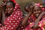 Relatives of the missing school girls react in Dapchi, the northeastern state of Yobe, Nigeria February 23, 2018.