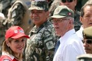 Peru's President Pedro Pablo Kuczynski participate in a military event at Rimac army headquarters in Lima, Peru March 20, 2018. Picture taken March 20, 2018.