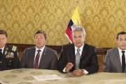 President Lenin Moreno said his government said more than US$600 million had been confiscated from armed groups in the border.