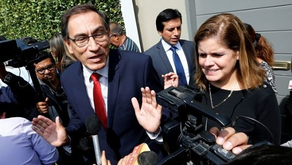 Left-wing political movement New Peru and half of voters believe Vice President Martin Vizcarra should call for new elections.