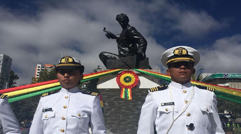 """En el acto, Morales aseguró que los bolivianos están más cerca del mar y le pidió al Gobierno chileno buscar """"soluciones beneficiosas"""" para ambas naciones."""