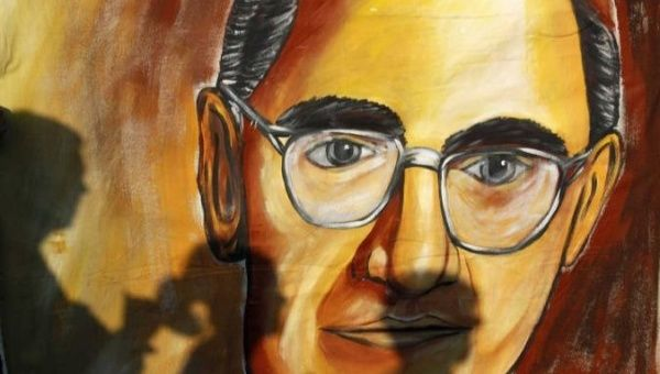 A mural of Archbishop Oscar Romero in San Salvador, El Salvador.