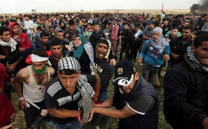 Israeli Military Kills and Wounds Palestine Land Day Protesters