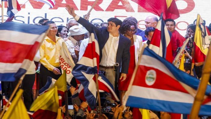 Electo Carlos Alvarado presidente de Costa Rica