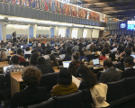 U.N. Food and Agriculture Organization (FAO) International Symposium on Agroecology participants listen to opening speakers.