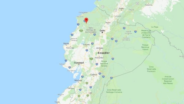 An explosion was registered near a bridge that connects the Esmeraldas province with the rest of Ecuador.