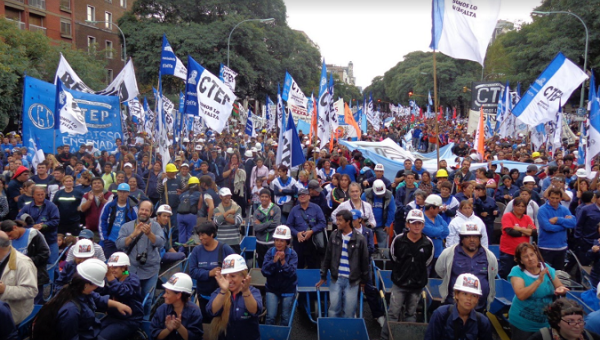 CTEP members during a 2013 May Day protest in Buenos Aires, Argentina.