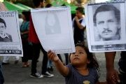 On Rios Montt's death victims organized a protest remembering the people who disappeared during his rule.