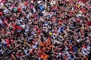 Brazil's former President Luiz Inacio 'Lula' da Silva carried by his supporters in Sao Paulo, Brazil April 7, 2018.