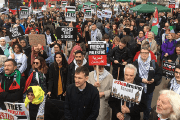 Citizens in the United States and United Kingdom are protesting the killing of at least 29 Palestinians in the Great March of Return in Gaza.