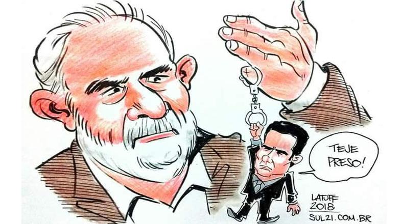 Algunos caricaturistas mostraron su rechazo a la decisión del juez Sérgio Moro.