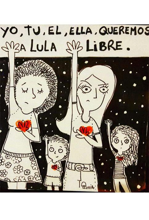 Desde todos los países reclaman la libertad de Lula.