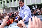 Rafael Correa during his presidential campaign in Guayaquil, Ecuador. November 26, 2006.