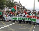 Palestinian solidarity march in Dublin.
