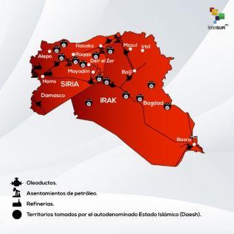 La posición geográfica de Siria es estratégica para Estados Unidos por las reserva de gas natural y petróleo.