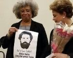 Angela Davis supports Lula's release from prison as she meets with former Brazilian President Dilma Rousseff.