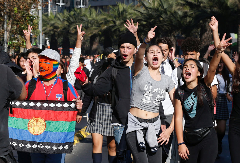 The protests are in response to a decision by Chile