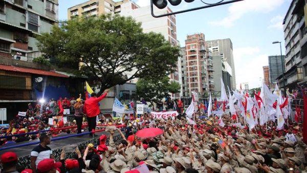 El 14 de abril pasado en Caracas se realizó una movilización popular contra la agresión extranjera.