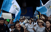 Guatemalan President Jimmy Morales also faced protest in August of 2017.